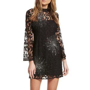 NWOT Free People North Star Lace Sequin Mini Dress
